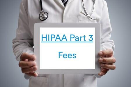 Doctor holding iPad HIPAA_Fees